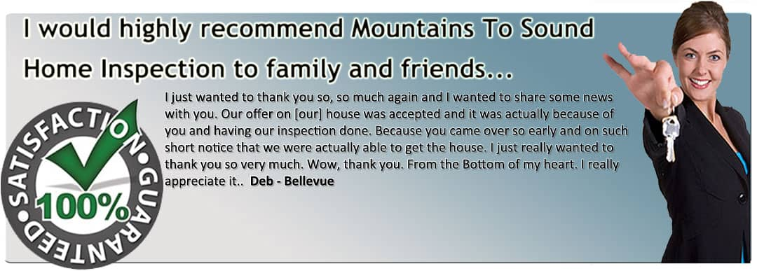 mountain to sound home inspection feedback - home inspection seattle