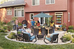 get together in an outdoor space - home inspection seattle