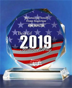 Best Of Federal Way Award 2019 Mountains to Sound Home Inspection