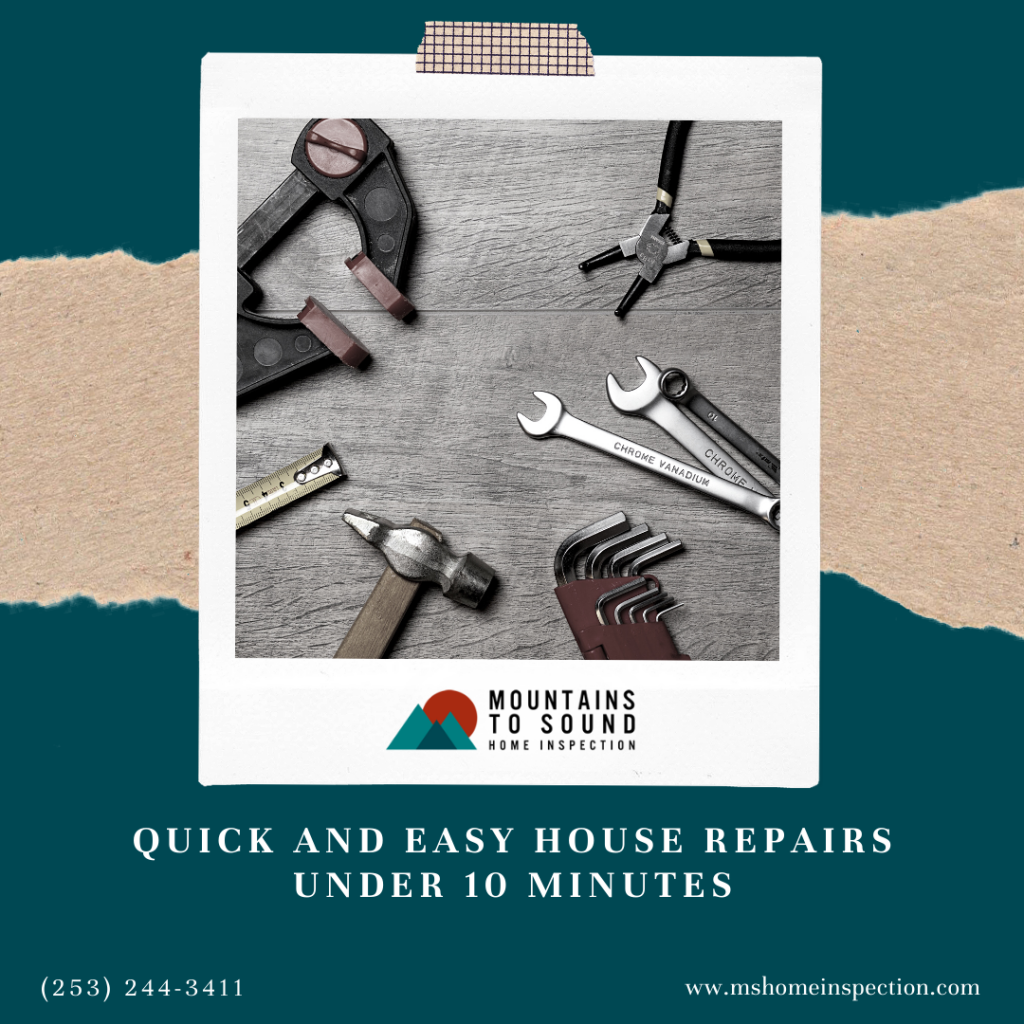 Mountains to Sound Quick and Easy House Repairs Under 10 Minutes