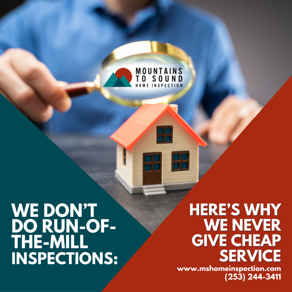 Mountains to Sound Home Inspection We Don't Do Run-Of-The-Mill Inspections_ Here's Why We Never Give Cheap Service